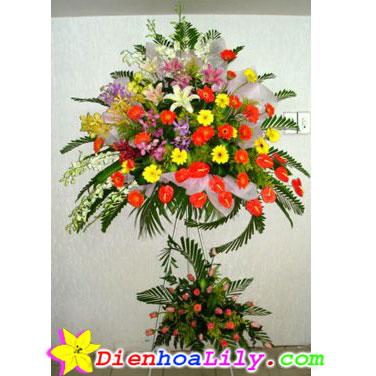 Hoa khai trương mùa xuân tươi đẹp