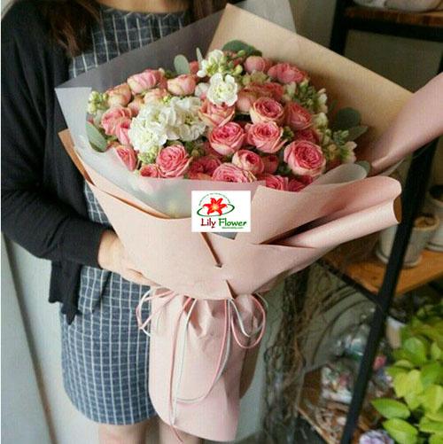 hoa tình yêu nồng nàn một tình yêu được tạo ra từ những bông hoa hồng phấn ngọt ngào và lãng mạn