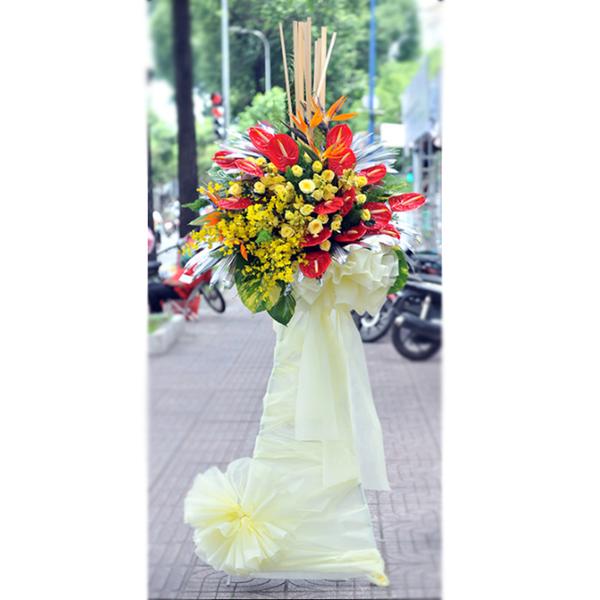 Hoa khai trương đôn hoa một tầng