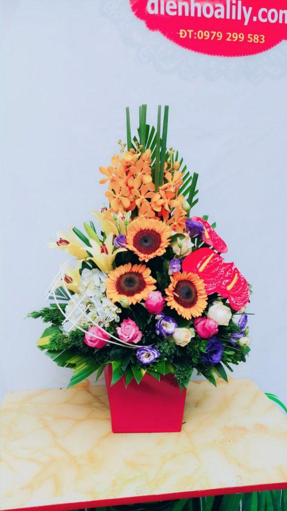 Giỏ hoa sinh nhật