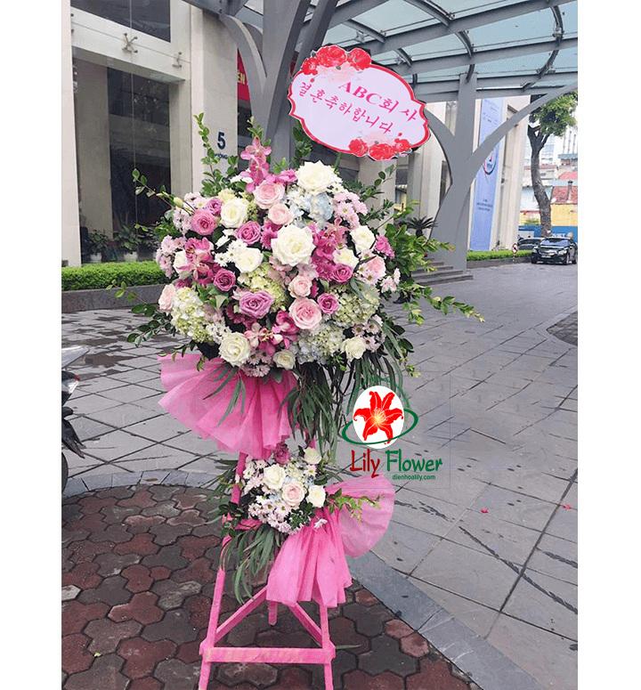Hoa khai trương hồng