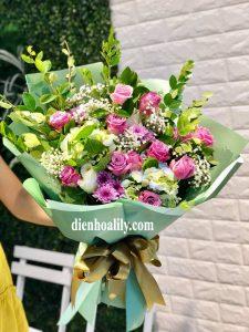 25bdd9e5d2 Bó hoa sinh nhật lời chúc ngọt ngào dành cho người bạn yêu thương nhất. Lời  chúc tốt lành sẽ là món quà đáng quý nhất.